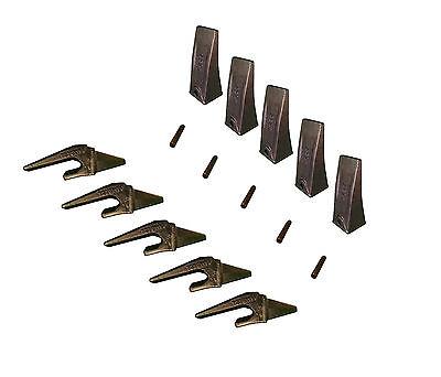 5 - Mini Excavator Bucket Teeth Weld-on Shanks Pins - X156l T230x156 P156