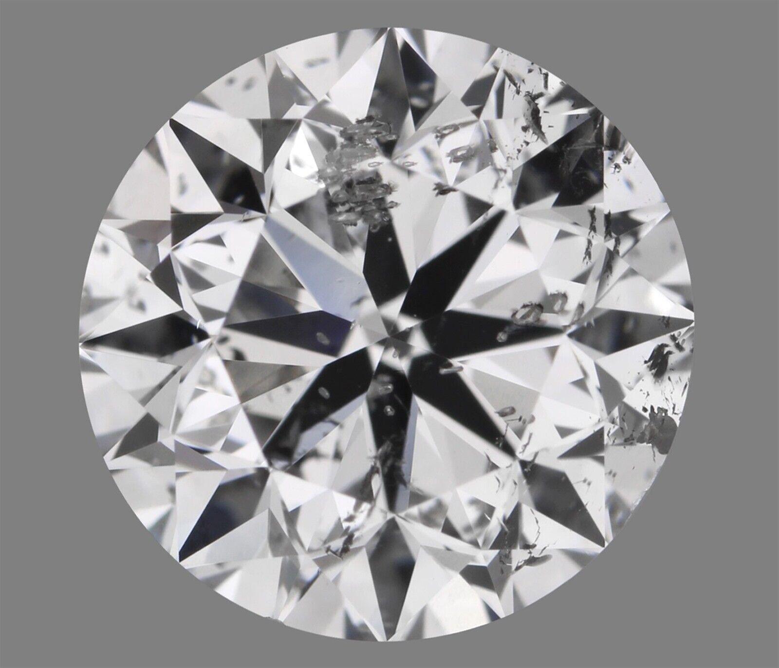 1.50 ct F Color I1 Clarity Round 100% Natural Loose Diamond VG Cut GIA FL Medium