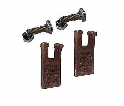 2 Pengo 4050 Degree Auger Teeth W Hardware 134501 Fits Pengo Aggressor Augers