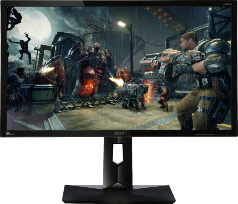 "Acer CB281HK 28"" LED 4K UHD FreeSync Monitor Black CB281HK BMJDPR"