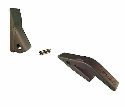 1 - Mini Excavator Backhoe Skid Steer Weld On Shank 23 Fab Tooth W Pin