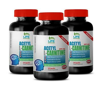 fat burning supplement - ACETYL L-CARNITINE 500MG - muscle growth vitamins 3B Acetyl L-carnitine 500 Vitamins