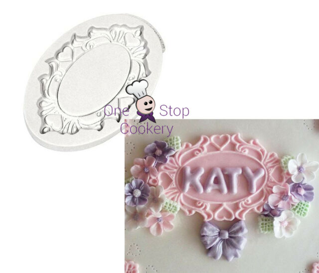 Katy Sue Hearts OVAL Decorative Plaque Silicone Mould FREE P&P