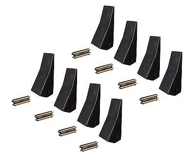 8 Backhoe Skid Mini Ex Bucket Teeth W Pins - 23 230 230sp D51750 Tf23d