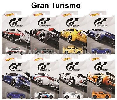 "Hot Wheels 2018 Gran Turismo ""The Real Driving Simulator"" Set of 8 Diecast Car"