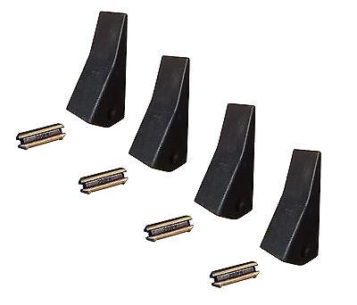 4 Backhoe Skid Mini Ex Bucket Teeth W Pins - 23 230 230sp D51750 Tf23d