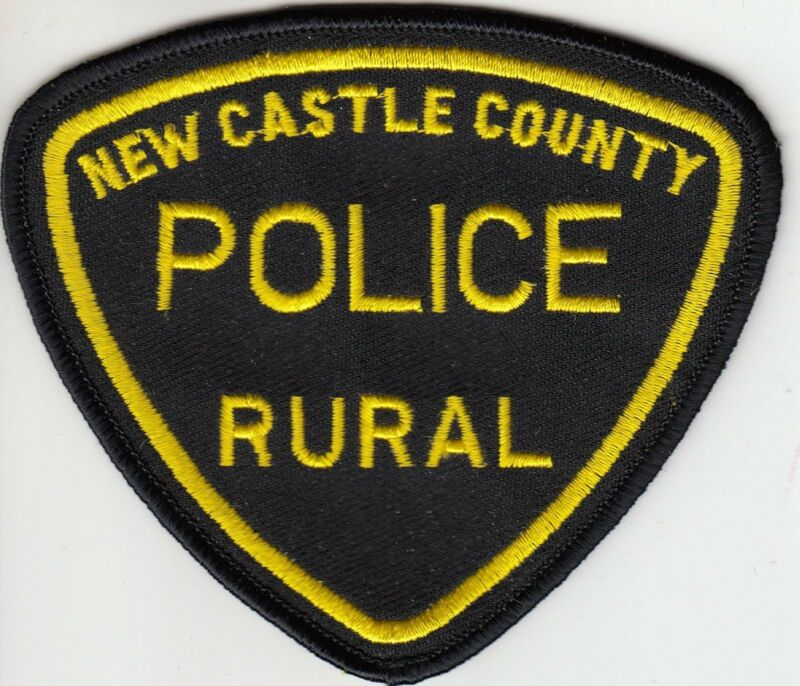 NEW CASTLE RURAL POLICE SHOULDER PATCH DELAWARE DE