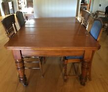 Antique/Farmhouse Cedar Table with 6 Chairs PRICE REDUCTION Tallegalla Ipswich City Preview