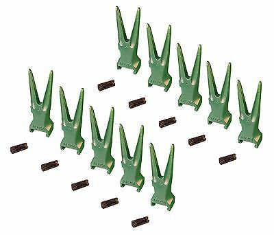10 - Esco Style Super V Backhoe Excavator Rock Bucket Teeth Pins - V17tvy