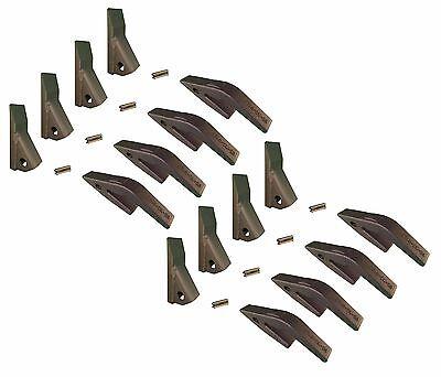 8 - Mini Excavator Backhoe Skidsteer Weld On Shanks 23hd Fab Teeth W Pins