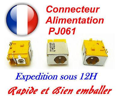 Connecteur alimentation dc jack pj061 portable Acer Aspire: 3050-1594, 3050-1710