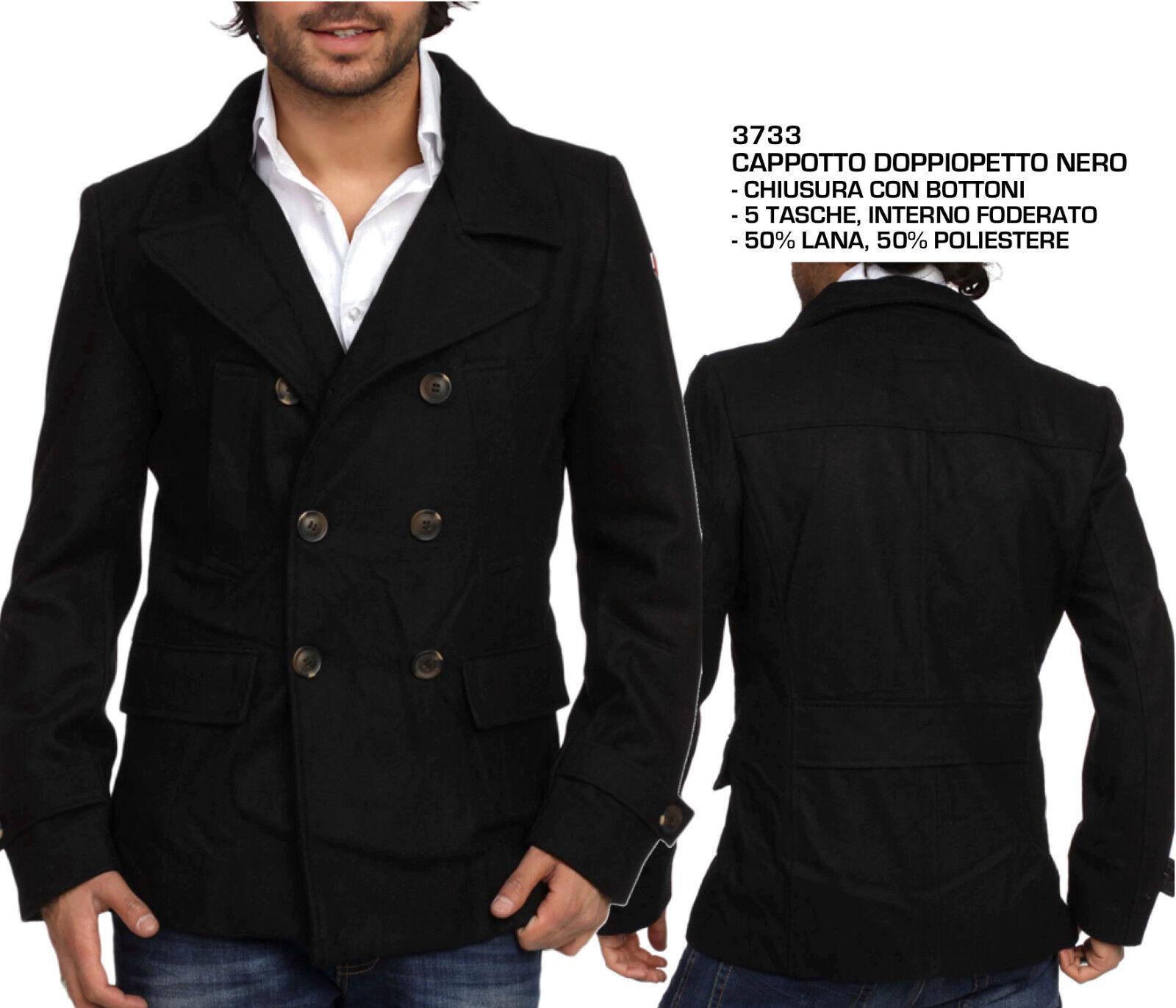 Cappotto da Uomo Invernale Giacca Giaccone Elegante Casual Moda Fashion Inverno