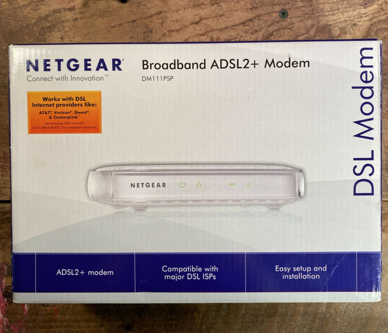NETGEAR Broadband ADSL2+ Modem DM111PSP In Box with All Accessories - Brand new