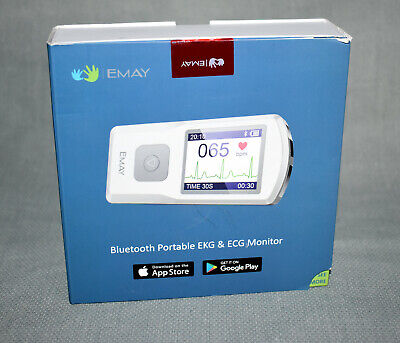 Emay Bluetooth Portable Ekg Ecg Monitor For Windows Or Mac