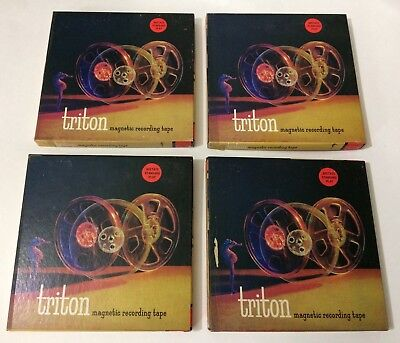 Lot #4 of (4) TRITON Used Vintage Orchestra Recorded Reel to Reel Tapes