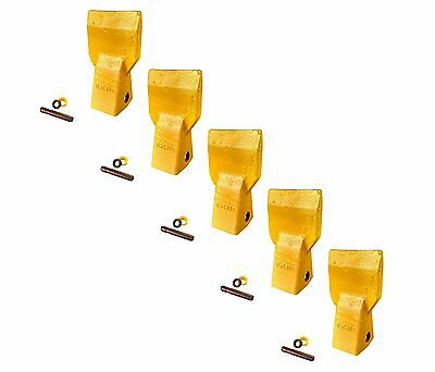 5 - Cat J250 Style Bucket Flare Teeth W Pins Retainers - 3g-8250 208-5254