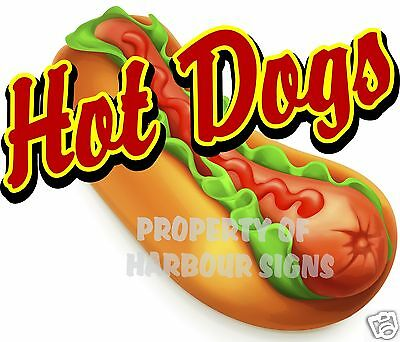 14 Hot Dogs Decal Concession Food Truck Cart Restaurant Vinyl Menu Sign Sticker