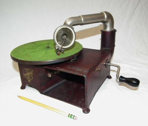 RARE VINTAGE MELODOGRAPH TABLE TOP PHONOGRAPH GRAMOPHONE 78 RPM RECORD PLAYER