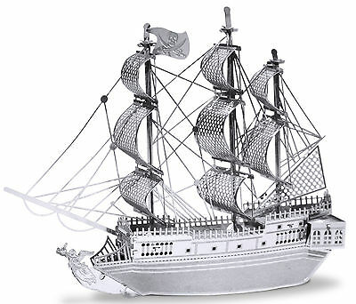 Black Pearl Schiff 25 Teile 3D-Metall-Bausatz Silver-Edition Metal Earth 1012