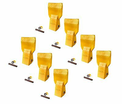 7 - Cat J250 Style Bucket Flare Teeth W Pins Retainers - 3g8250 2085254