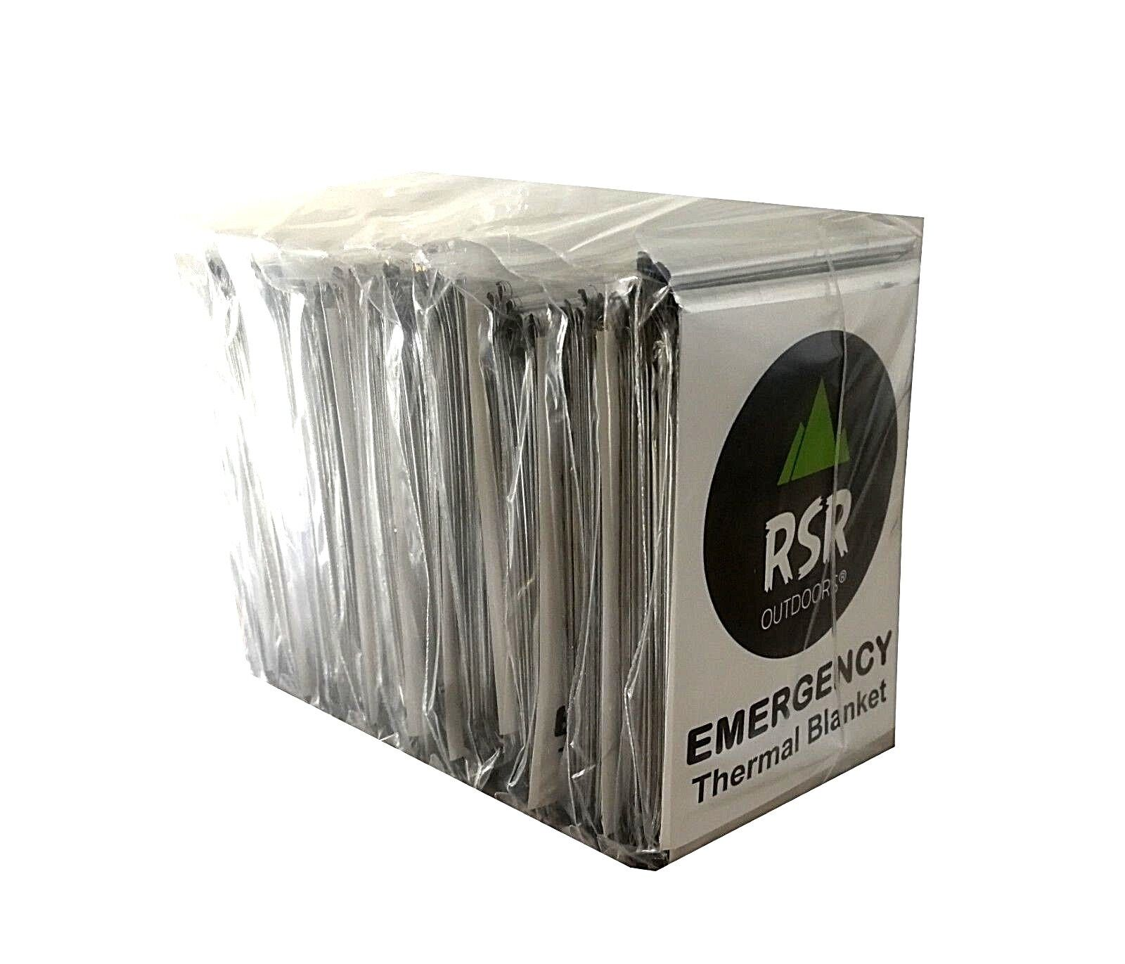 10 Pack Emergency Survival Safety Thermal Space Mylar Blanket Insulating Solar