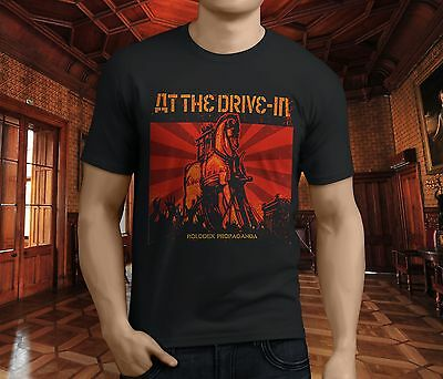 New AT THE DRIVE IN Relationship of Command Rock Band Men's Black T-Shirt