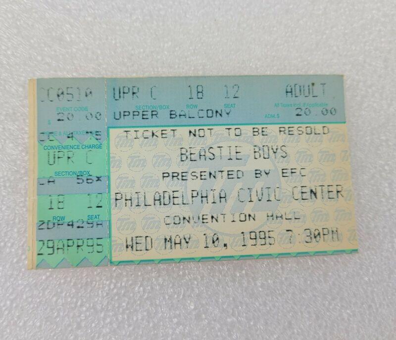 BEASTIE BOYS Concert Ticket Stub-1995- PHILADELPHIA CIVIC CENTER may 10th