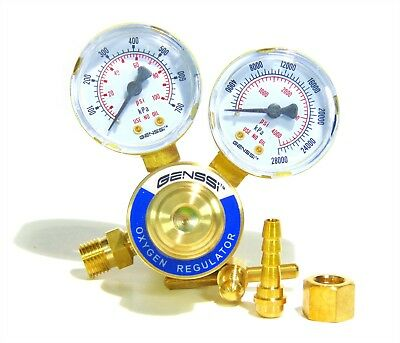 Cga540 Pressure Oxygen Regulator Welding Gas Gauge Cutting Torch Tool 2 Gauges