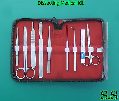 Dissecting Medical Kit Set Of 9 Pieces Ds-706