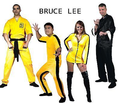 PICK Adult Martial Arts Bruce Lee Jumpsuit Mini Dress Karate Gi Kung Fu Costume