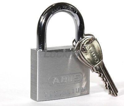Keyed Alike Abus 64ti50 Titalium Marine Grade Padlock 8mm 516 Shackle