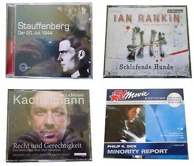 4 Hörbücher (2), deutsche Sprache Thriller, realer Horror, Krimi,