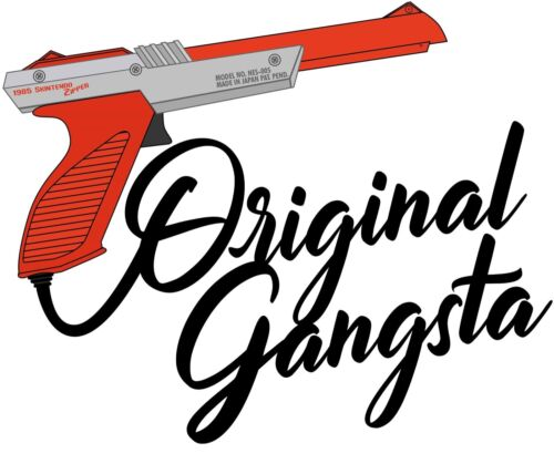 """NINTENDO NES ORIGINAL GANGSTA Zapper duck hunt DECAL 3.5"""" X 3"""