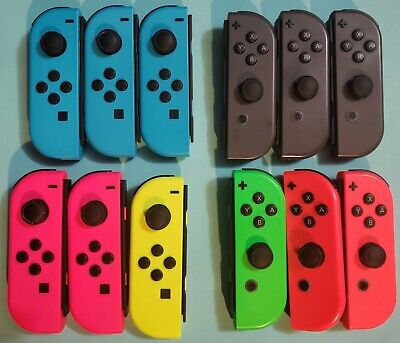 Official OEM Nintendo Switch Joy Con Single Neon Blue/Red/Yellow/Pink & Gray