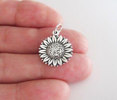 Sterling Silver Sunflower charm   (Sunflower Charm)