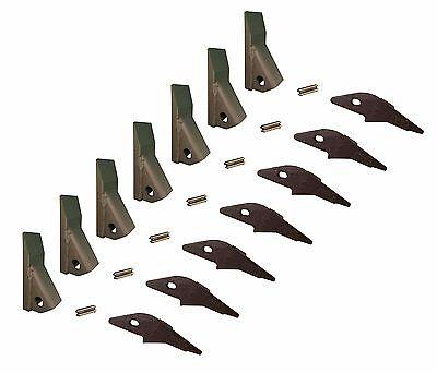 7 - Skid Steer Flush Mount Bucket Shank 230 Fab Teeth W Pins 2300fl 23f