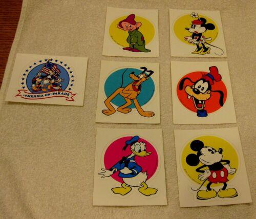 7 Disney Stickers Disneyland Mickey Minnie Mouse Donald Duck America Parade