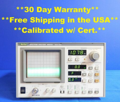 Anritsu MS610A Spectrum Analyzer 100 Hz to 2.2 GHz