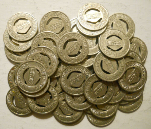 Lot of 50 Denney & Hines  Bus Company (Muncie, Indiana) transit tokens - IN660C