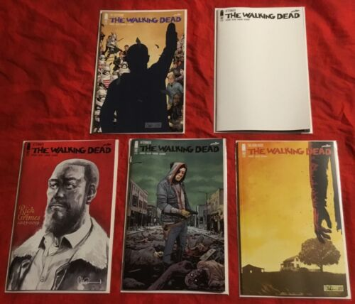 THE WALKING DEAD #191 192 193 1st~FINAL ISSUE DEATH RICK GRIMES+VARIANT+BLANK