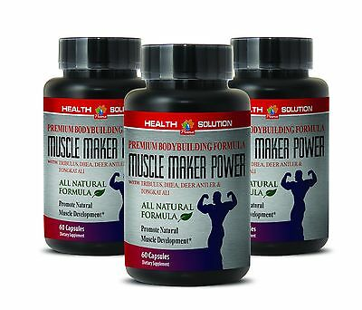 Extreme Muscle Growth   Muscle Maker Plus   Muscle Gain   3 Bottles