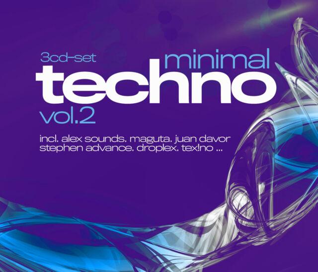 CD Minimal Techno VOlume 2 von Various Artists 3CDs