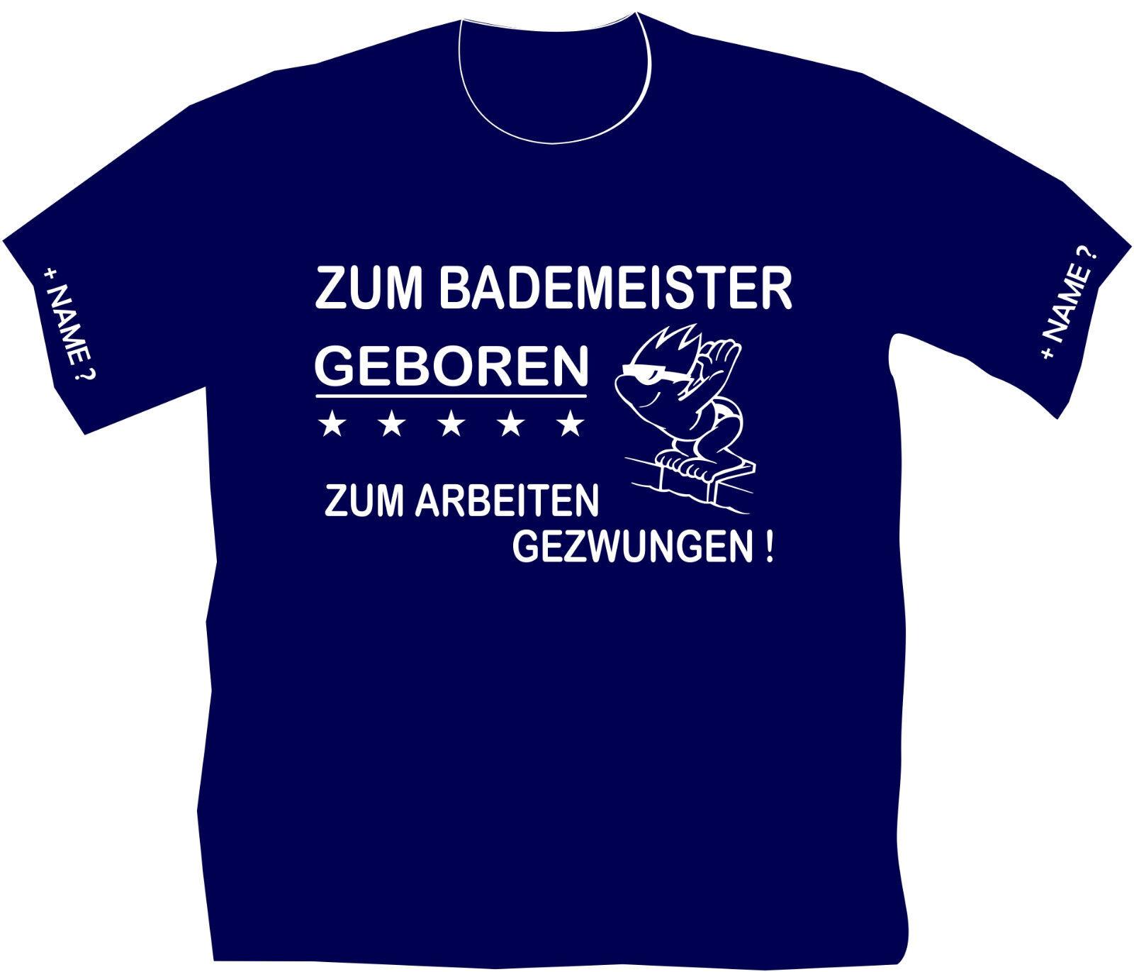 Schwimmmeister Bademeister T-Shirt Hallenwart Wunschname Schwimmhalle 22