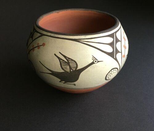 New Mexico Zia Pueblo Pottery Jar - Bird and Floral Design