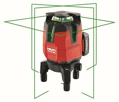 Hilti Pm 40-mg Green Beam Multi Line Laser Full Kit Wo Reciever 3576138