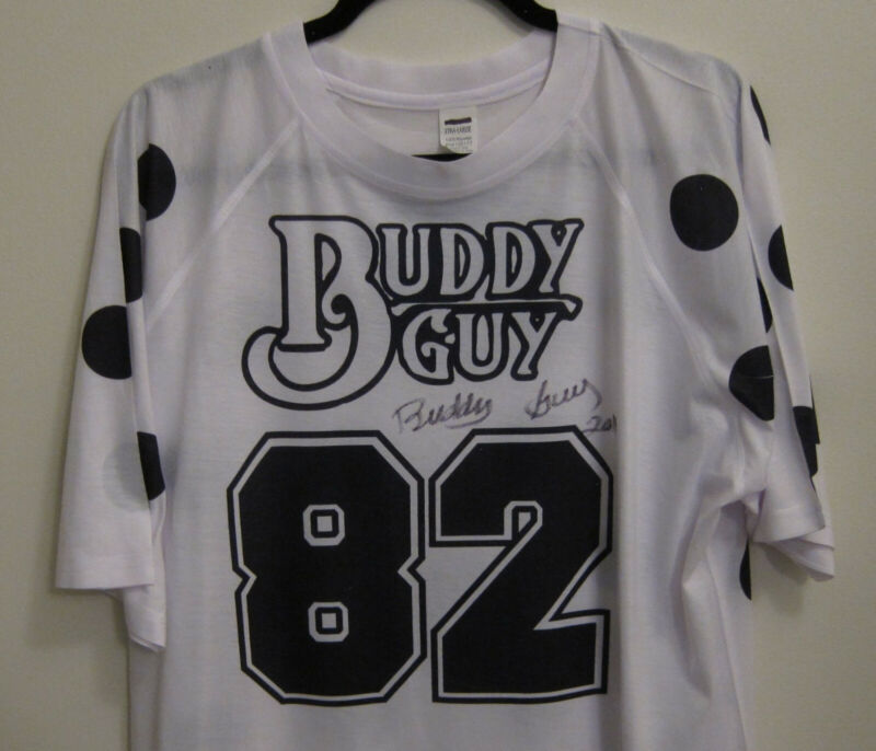 Buddy Guy - Signed 82 Birthday T-Shirt from Legends officially licenced
