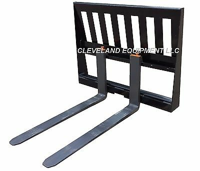 New 3000 Lb Pallet Forks Frame Attachment John Deere Bobcat Skid Steer Loader