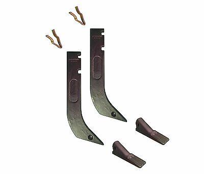 2 - Gannon Scraper Box Shanks W Scarifier Teeth Clips - H920 8075 K1306