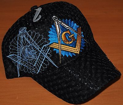 Black Blue Mesh Mason Masonic Freemasonry Freemason Masonry Lodge Summer Cap Hat