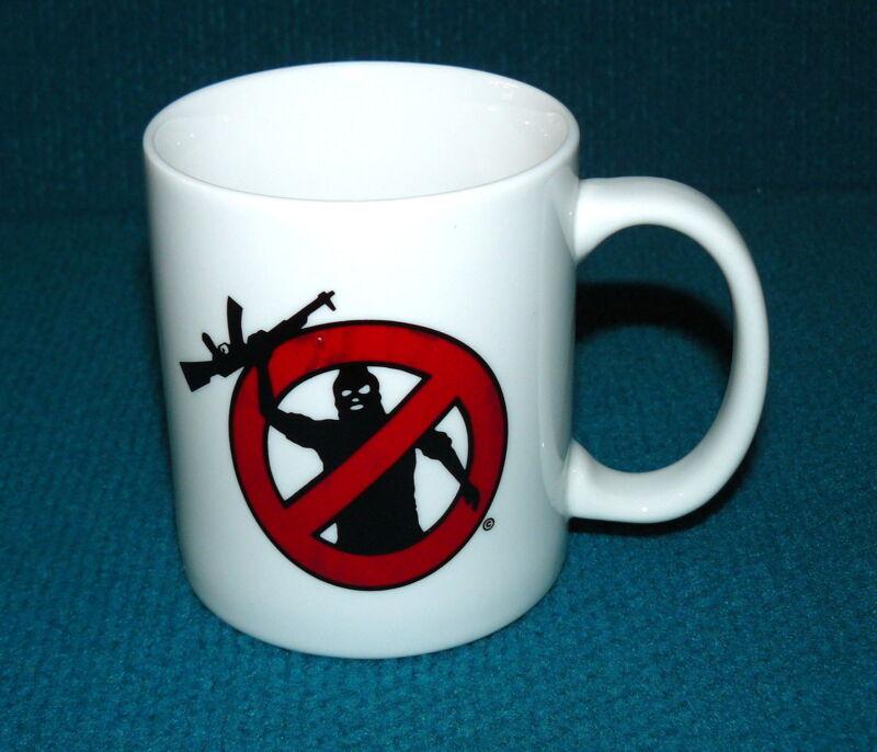 Rare! NO TERRORISTS symbol COFFEE MUG from U.S. EMBASSY